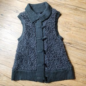 Kensie Soft Dark Gray Sleeveless Vest Sz Large